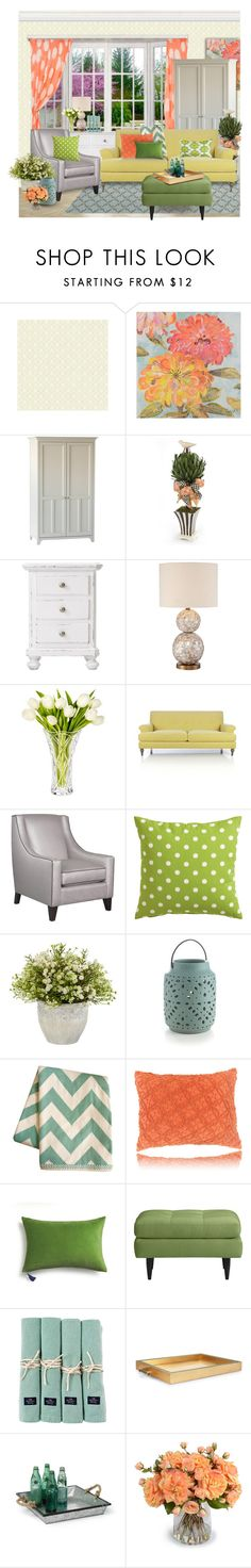 """""""Springy"""" by rotunda ❤ liked on Polyvore featuring interior, interiors, interior design, home, home decor, interior decorating, Ercol, MacKenzie-Childs, Home Decorators Collection and Universal Lighting and Decor"""