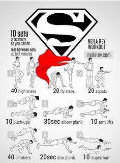Super hero workout _Superman