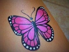 Learn how to paint this butterfly in 9 easy steps. #howtofacepaint