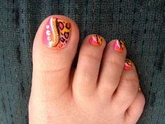 Neon leopard nails - just got these last night - thanks Lena!