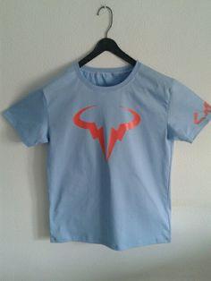 Camisetas pintadas a mano  Logo Rafa Nadal