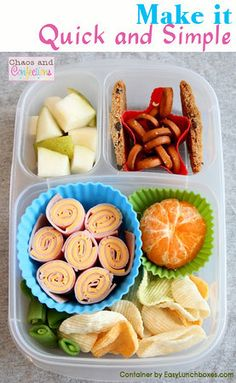 Yummy Lunch Ideas for packed lunch boxes - EasyLunchboxes Lunch Box Bento, Packed Lunch Boxes, Easy Lunch Boxes, Lunch Snacks, Healthy Snacks, Lunch Ideas, Bento Lunchbox, Healthy Recipes, Whats For Lunch