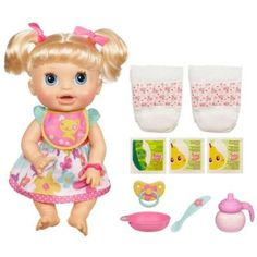 "Baby Alive Real Surprises Baby Doll - Caucasian - Hasbro - Toys ""R"" Us Muñeca Baby Alive, Baby Alive Dolls, Baby Dolls, Little Doll, Little Babies, Little Girls, Victorian Dollhouse, Dollhouse Dolls, Modern Dollhouse"