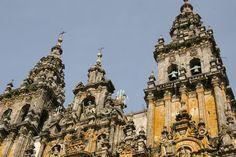 Catedral de Santiago de Compostela (detalle de la fachada principal).