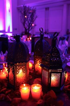 Moroccan Themed Party with Table Lanterns