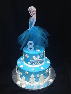 Frozen Elsa Wood Centerpiece with Tutu for by MarieRoseDecorations