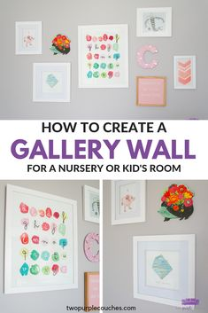 Create a nursery gallery wall with art and decor for a modern, colorful, boho-inspired nursery. These tips and nursery art ideas will help you get started! Boho Nursery, Nursery Art, Girl Nursery, Nursery Ideas, Girls Bedroom, Bedroom Ideas, Playroom Organization, Playroom Decor, Playroom Ideas