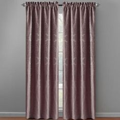 One of my favorite discoveries at ChristmasTreeShops.com: Purple Katerina Patterned Window Curtains, Set of 2
