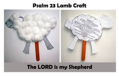 Bible Craft Lamb Psalm 23 ~ The LORD is my Shepherd