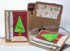 video sharing how to make this cute quick folded christmas tree card