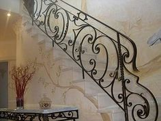 Wrought iron stair railings and balustrades - Blacksmithing Bertho Janssen