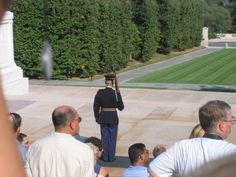 Photo by Marcia Dobbins Contrado of a Ghost at Arlington National Cemetary