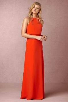Iva Crepe Maxi in Bridesmaids View All Dresses at BHLDN
