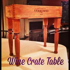 Cherry Finished Wine Crate Table