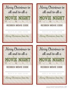 Redbox Code Popcorn Wrappers (U Create) | Popcorn, Movie and Gift