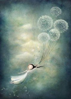 Kai Fine Art is an art website, shows painting and illustration works all over the world. gone with the wind (via Pin by Cristiana Resina on Cristiana Resina: art & illustration Amanda Cass: title unknown [illustration: carried away by dandelions], medium Art Fantaisiste, Illustration Art, Illustrations, Whimsical Art, Oeuvre D'art, Fantasy Art, Art Photography, Artsy, Sketches