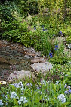 The Wedgwood Garden, RHS Chelsea Flower Show 2018 - Jo Thompson Garden Designer Source Of Inspiration, Garden Inspiration, Garden Ideas, Landscape Design, Garden Design, Chelsea Flower Show 2018, York Stone, Woodland Garden, East Sussex