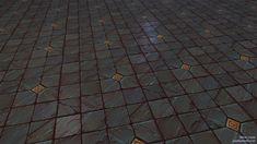 Sculpted tiling textures, Marie Lazar on ArtStation at https://www.artstation.com/artwork/93WkR