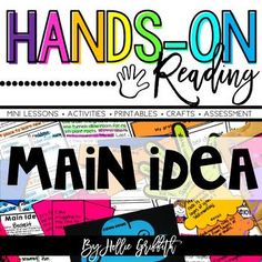 Main Idea and Details | Hands-on Reading #HollieGriffithTeaching #KidsActivities