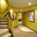 Nice Yellow Basement Design