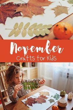 November Crafts for Kids : Fun Fall Preschool Crafts- That Kids' Craft Site