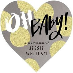 Heart-Shaped Baby Shower Invitations >> Share the love with friends and family with these adorable invites!