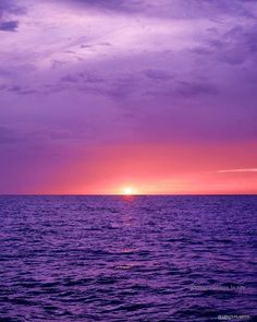 Pink Cream Sunset Into Lacey Purple Water