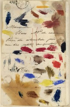 Art Propelled - letter from  Eugene Delacroix to his paint dealer