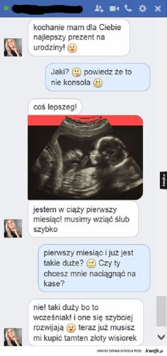 Prezent urodzinowy #kwejk #rozmowa #laska Funny Sms, Funny Messages, Wtf Funny, Everything And Nothing, Pranks, Best Memes, Haha, Jokes, Facts