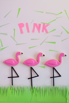 tell love and chocolate: TELL: FLAMINGO COOKIES