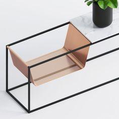 Perforé, mesa auxiliar minimalista hecha de tres materiales distintos | More with less