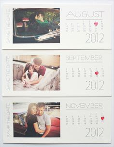 2012 Free Printable Save the Dates