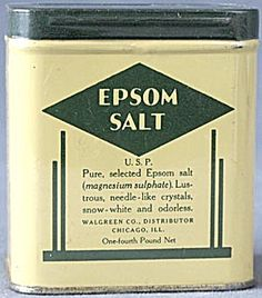 Vintage Walgreen Epsom Salt Tin