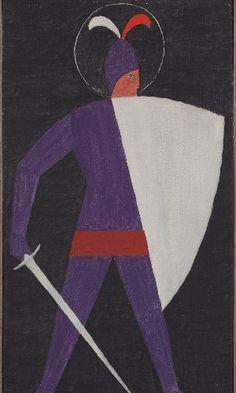 São Jorge. Década de 1950. Alfredo Volpi (1896-1988). Pintor ítalo-brasileiro.