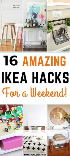 These 16 great and amazing DIY projects using IKEA products can easily be done on your weekend!