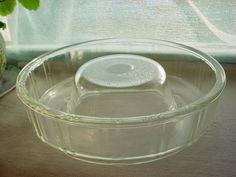 Vtg Glasbake Clear Glass Queen Anne Bundt Cake Pan Jello Ring Mold Retro 8 inch Seller florasgarden on ebay