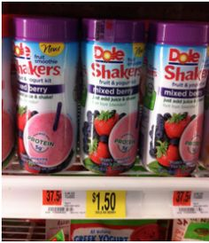Walmart: Dole Fruit Smoothie Shakers only $.50 with printable coupon!