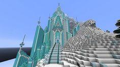let it flow Elsa's  castle | Elsa's Ice Castle – Frozen Map | Minecraft Maps