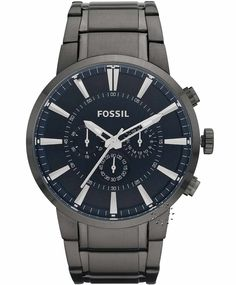 FOSSIL Chronograph Stainless Steel Bracelet, 141€ http://www.oroloi.gr/product_info.php?products_id=33598