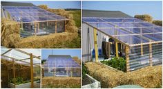 DIY Straw Bale Greenhouse   See more here -> http://www.goodshomedesign.com/diy-straw-bale-greenhouse/ - Home Design - Google+