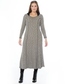 Maxi φόρεμα με κουκούλα — mat. XXL sizes