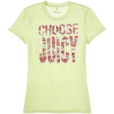 Juicy Couture Choose Juicy Camo Tee ($58) ❤ liked on Polyvore