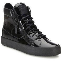 392d33222 Giuseppe Zanotti Zipper-Accented High-Top Sneakers   Giuseppe Zanotti... (