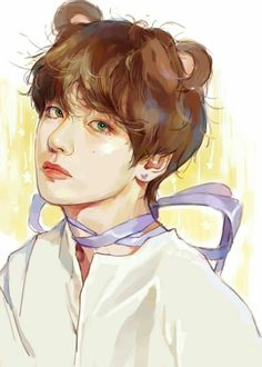 Chibi, Sketches, Taehyung Fanart, Drawings, Amazing Art, Korean Art, Art, Fan Art, Pictures To Paint