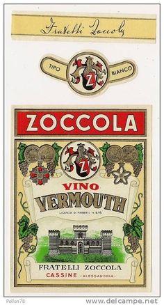 Etichette - ETICHETTA CON FASCETTE - VINO VERMOUTH - ZOCCOLA - CASSINE - ALESSANDRIA
