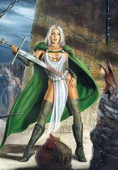 Mitologia Nórdica#HLIN – uma das 3 serviçais de Frigg, junto com Fulla e Gná…