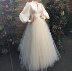 Wedding Dresses Simple Plus Size .Wedding Dresses Simple Plus Size Hijab Evening Dress, Hijab Dress Party, Tulle Prom Dress, Mermaid Dresses, White Tulle Dress, Simple Dresses, Elegant Dresses, Pretty Dresses, Vintage Dresses