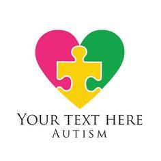 Custom Autism Logo Design.  Premade Logo Design. Autism Awareness.  Puzzle Piece.  Customized for AN