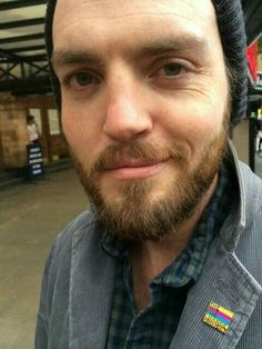 Omg a lovely new one of Tom complete with beany hat x