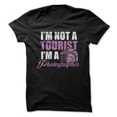 T-Shirtzzz... I'm Not A #Tourist . I'm A #Photographer | #tshirt #black #phrase #photo